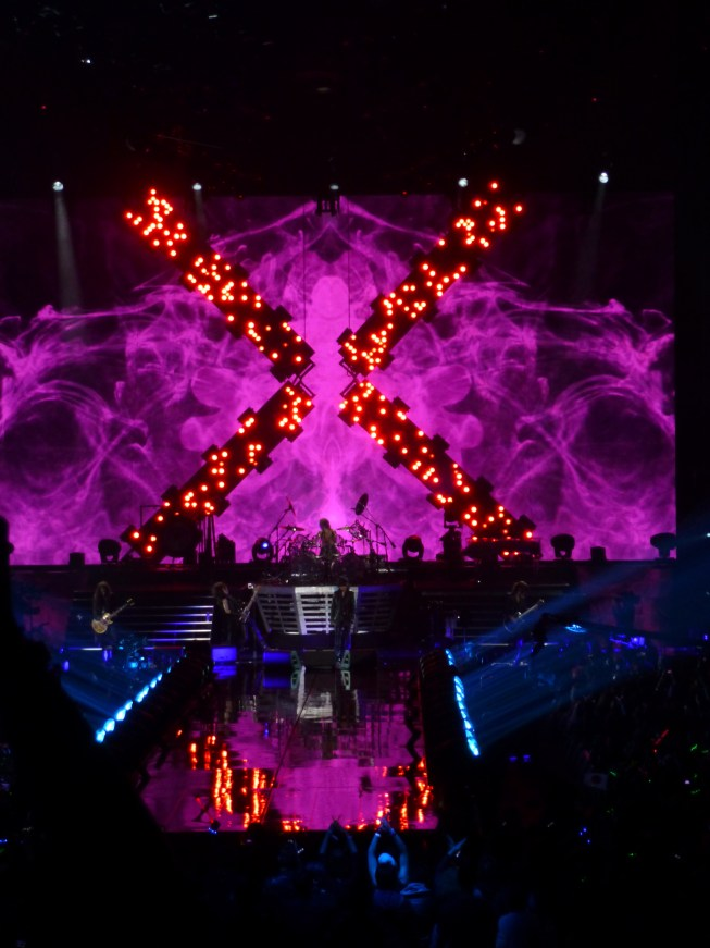 X Japan Stage Prop Pink Fire