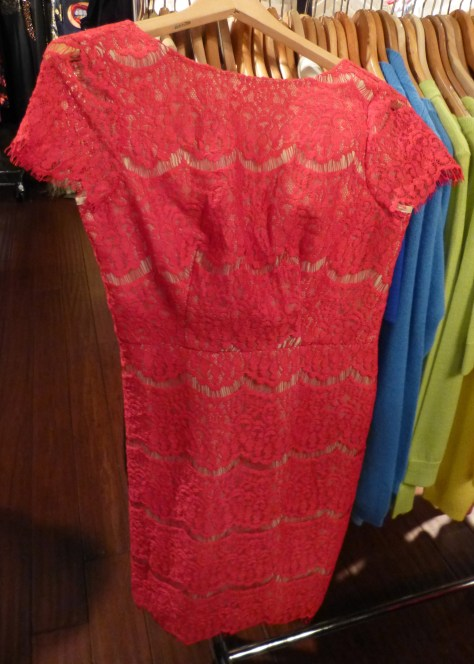 Red Lace Short Dress By Darling