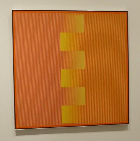 Julian Stanczak Orange and Yellow