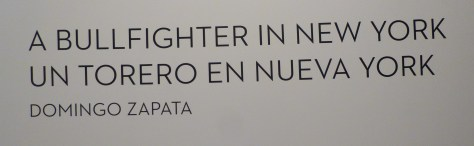 Bullfighter in New York Signage