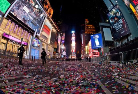 New Years Eve in Times Square Aftermath