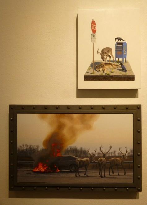 Two Works By Josh Keyes