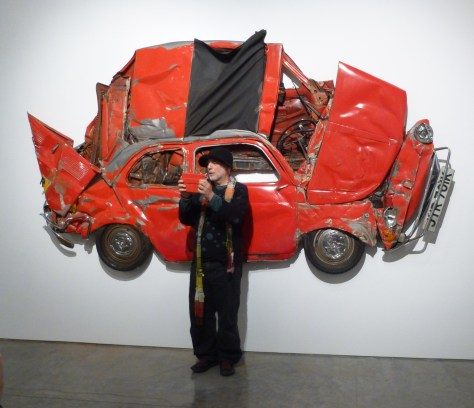 Ron Arad with Red Fiat