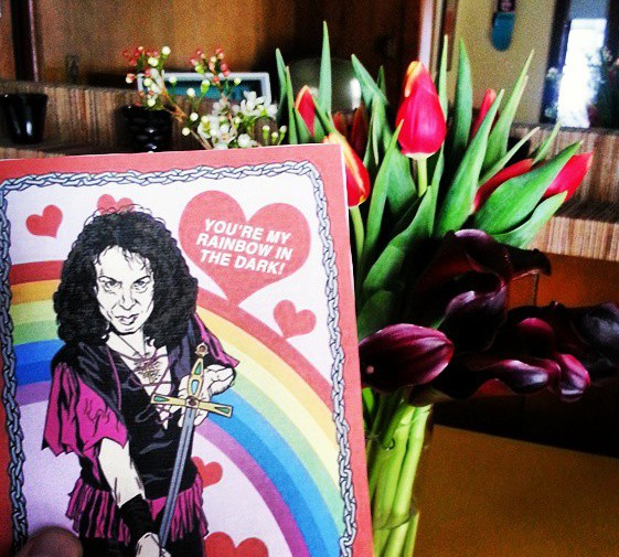 Ronnie James Dio Valentines Day Card