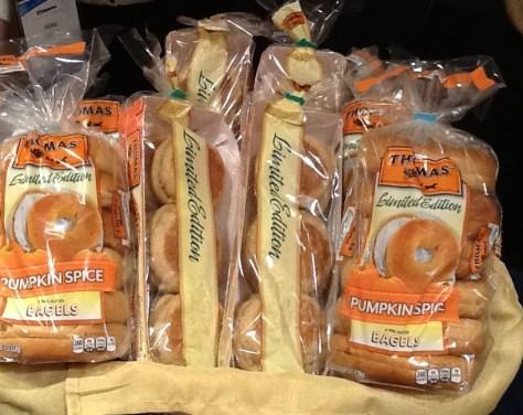Thomas Pumpkin Muffins and Bagels
