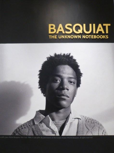 Basquiat Unknown Notebooks Signage