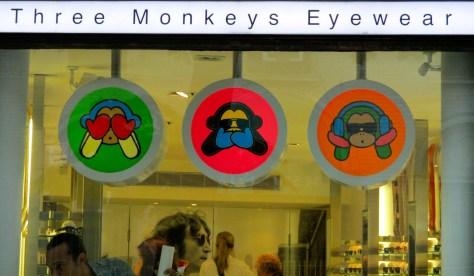 Three Money Eyewear Signage
