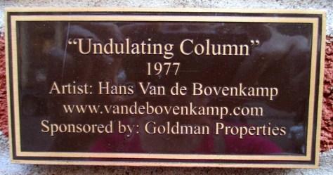 Undulating Column Plaque