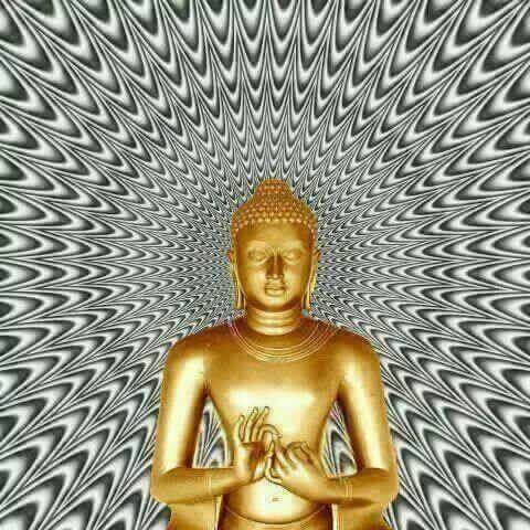 Optical Illusion Buddha