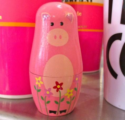 Pink Nesting Pig