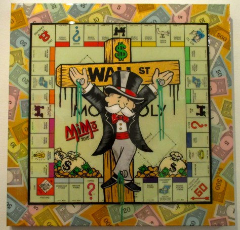 MiMo, Mr Monopoly on the Wall Street Cross