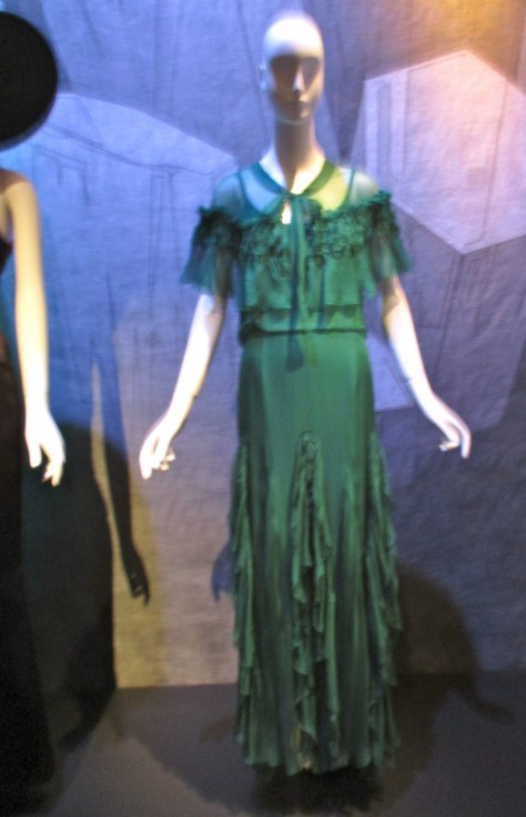 Molyneux Emerald Evening Gown