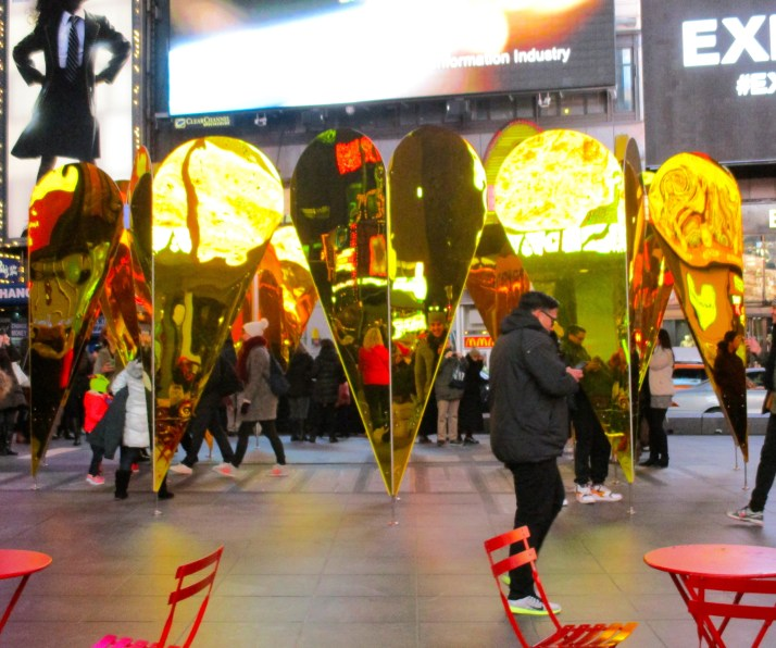 Heart of Hearts Sculpture in Times Square