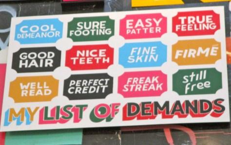My List of Demands