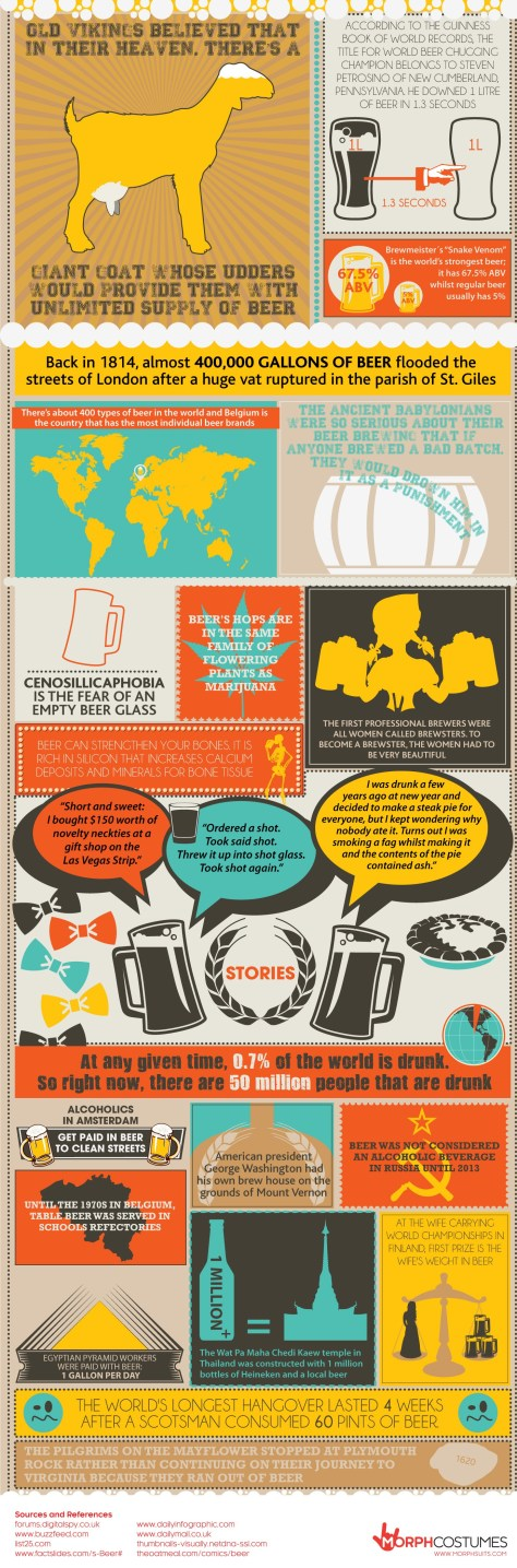 Toast Worthy Beer Facts Infographic