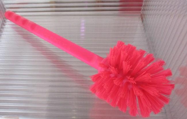 Pink Toilet Bowl Brush