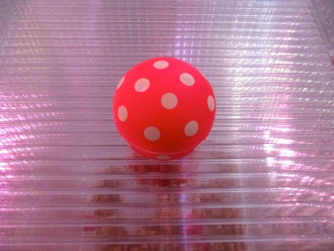 Pink Polka Dot Ball