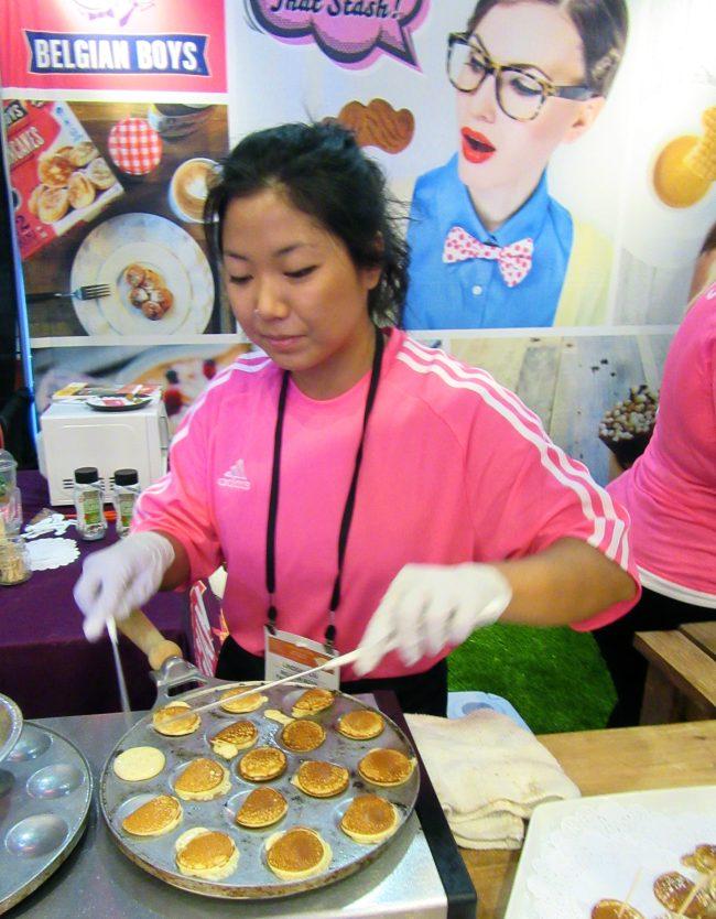 Chef Making Belgian Boys Mini Pancakes