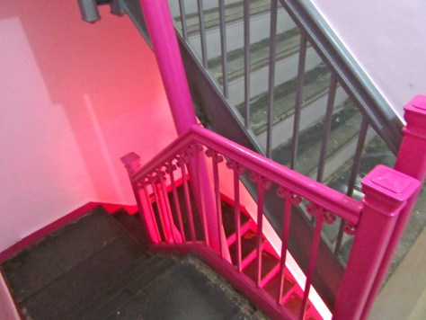 Pink Stairs from Landing