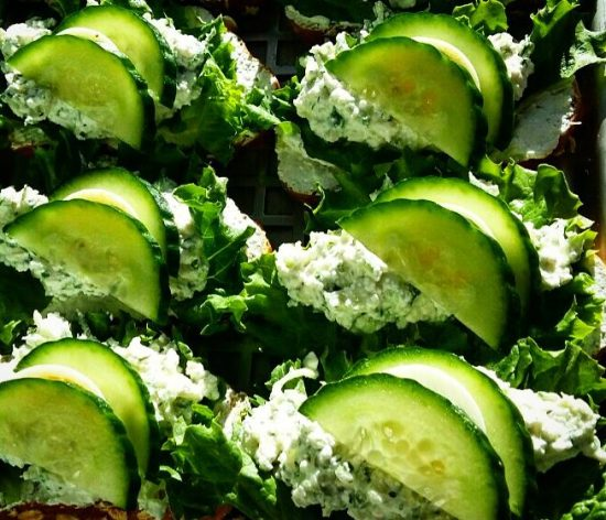 Cucumber and Farmers Cheese