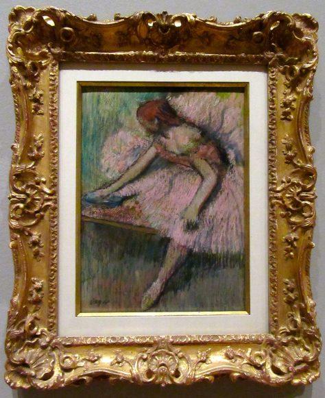 Pink Dancer By Edgar Degas