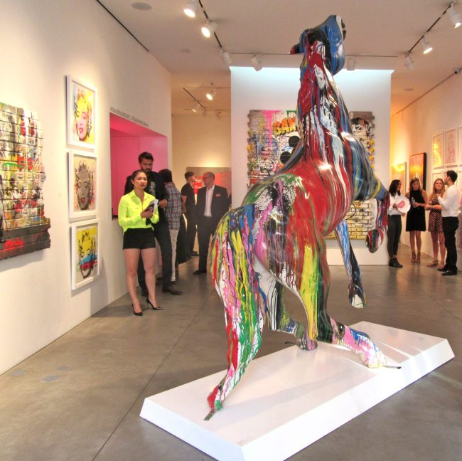 Installation View with Horse