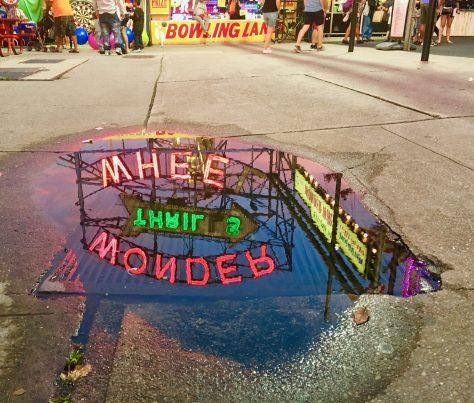 Wonder Wheel Sign Reflection