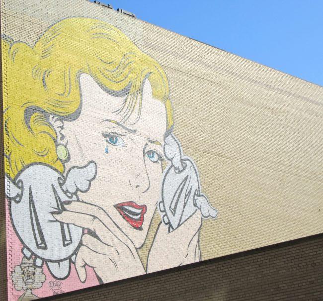 D*Face Blonde Mural