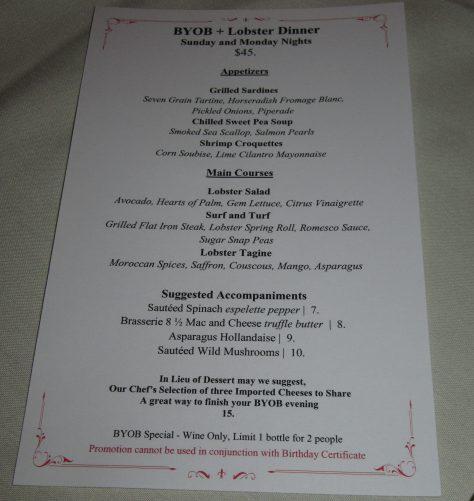 BYOB Lobster Dinner