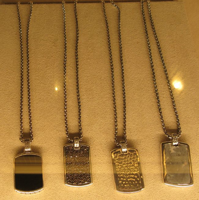 Mens Classic Dog Tag Necklaces in Assorted Finishes