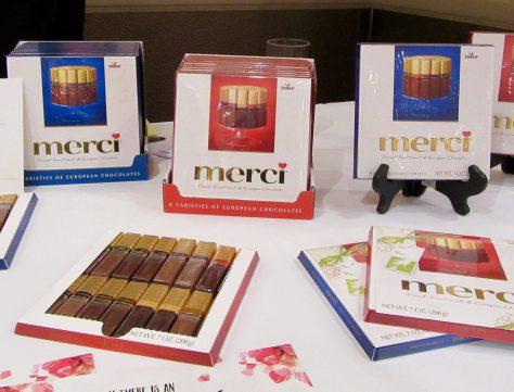 Merci Chocolates Display