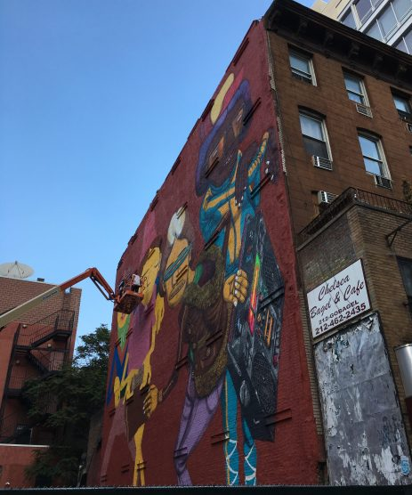 Os Gemeos Mural Eastern Face Week of Sept 16