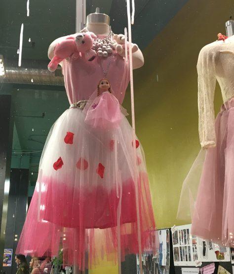 Pink Apron Dress