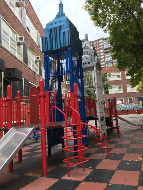 Two Towers Playground Slides