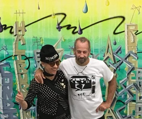 Kenny Scharf and Friend