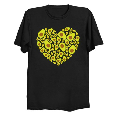 Avocado Heart T Shirt