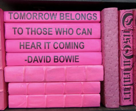 David Bowie Quote on Book Spines