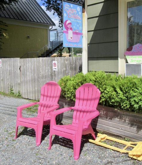 Pink Adirondack Chairs