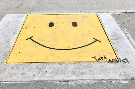 Smiley Face By Tape Artist