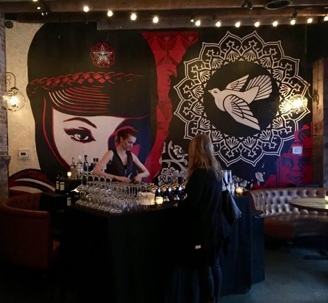 Shepard Fairy Mural Bar