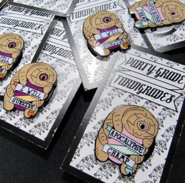 Tardigrade Enamel Pins By Doom Co Designs