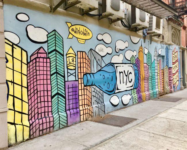 Dirt Cobain NYC Skyline Mural