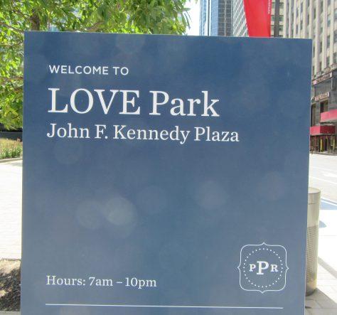 Love Park Placard