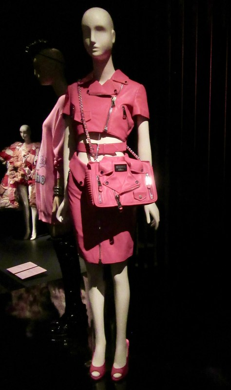 Pink Leather Moschino Ensemble