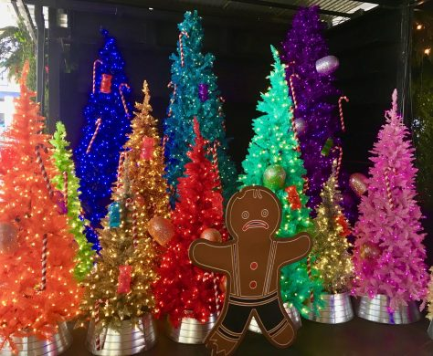 Colored Christmas Trees