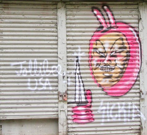 Pink Bunny with Dagger