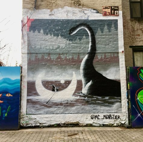 Dinosaur and Wizard Mural By Mc Monster