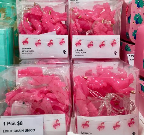 Pink Unicorn String Lights