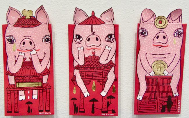 3 Pigs By Aaron Meshon
