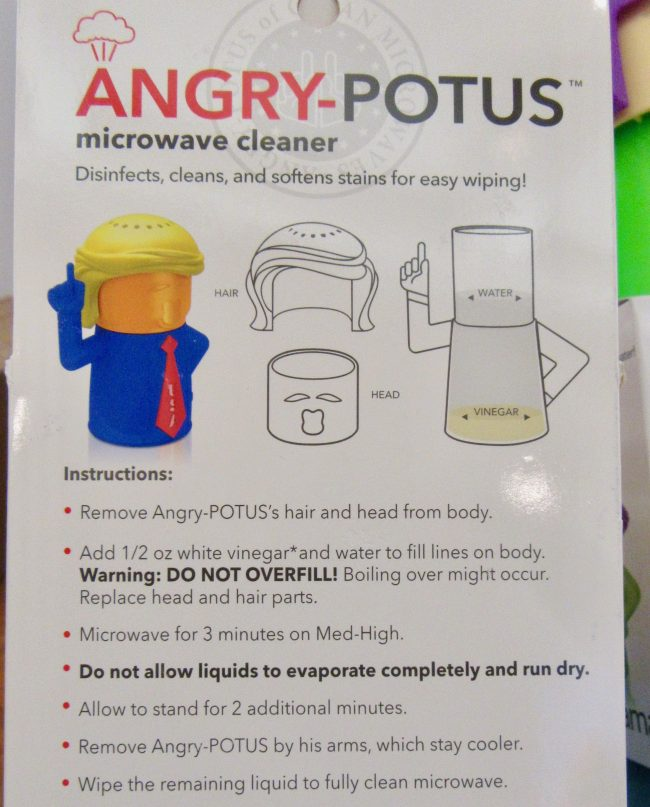 Angry POTUS Microwave Cleaner Packaging